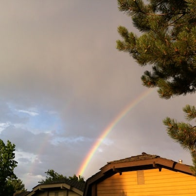 Rainbow In Neighborhood